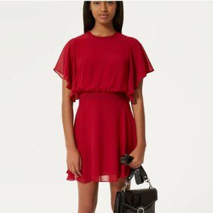 Rebecca Minkoff Red Tasha Ruffle Sleeve Dress
